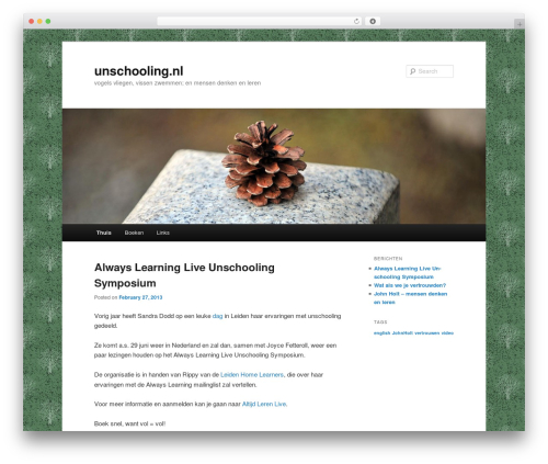 WordPress theme Twenty Eleven - unschooling.nl