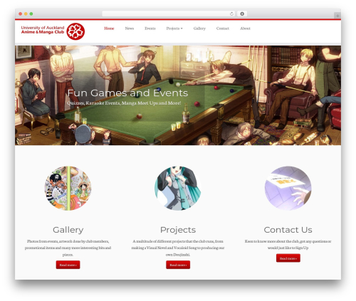 WordPress website template Customizr - uoaamc.com