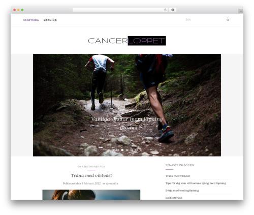Activello best free WordPress theme - cancerloppet.se