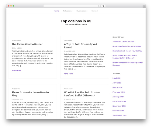 Bootstrap Blog WordPress blog template - esotikaexpo.com