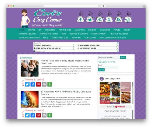 Genesis WordPress blog template - coriscozycorner.com
