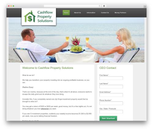 Responsive free WordPress theme - cashflowps.com.au