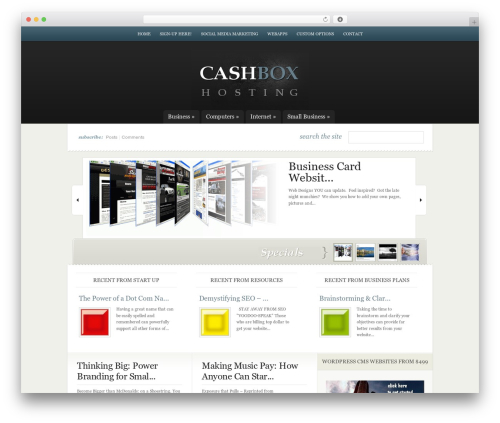 Theme WordPress eNews - cashboxhosting.com
