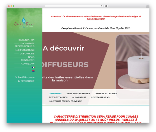 BeautySpot WordPress page template - caracterre.eu