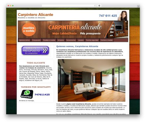 Best WordPress theme Atahualpa - carpinteroalicante.es