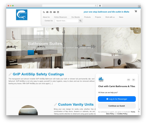 Customizr WordPress page template - carinibathrooms.com