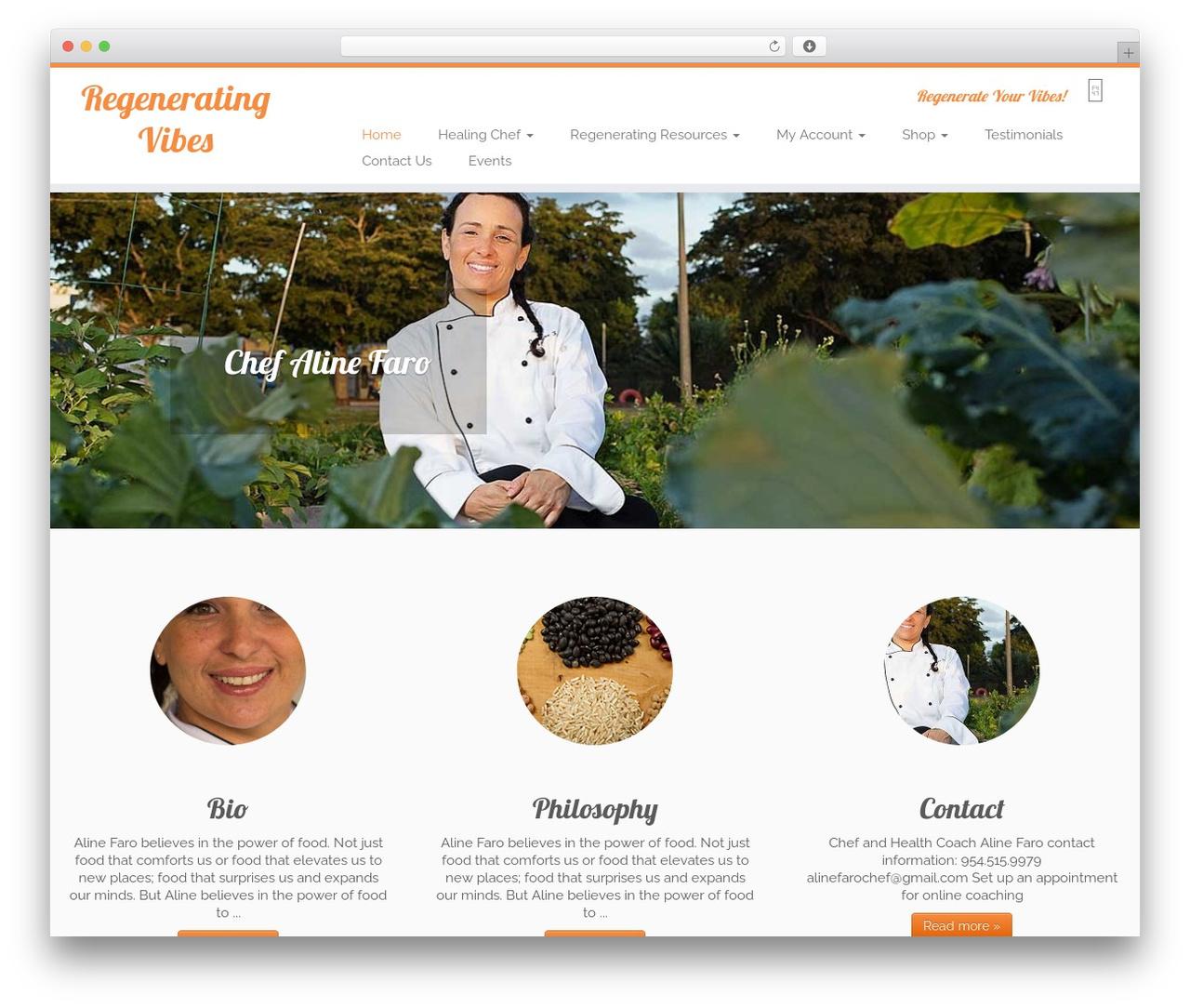 Customizr WordPress website template - chefalinefaro.com