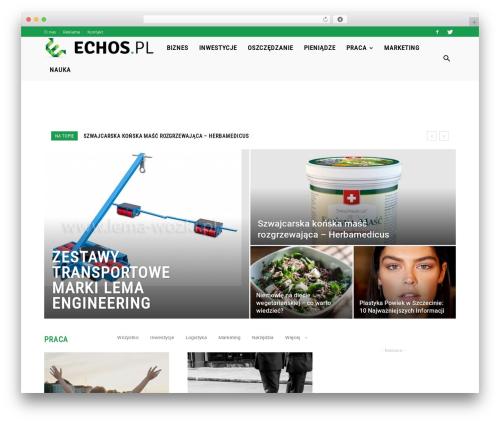 Newspaper best WordPress template - echos.pl