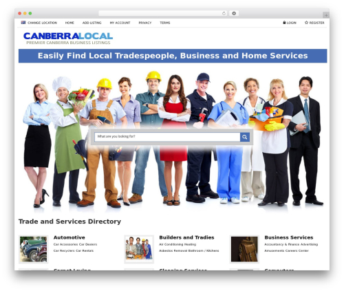 Responsive Business Theme company WordPress theme - canberralocal.com.au