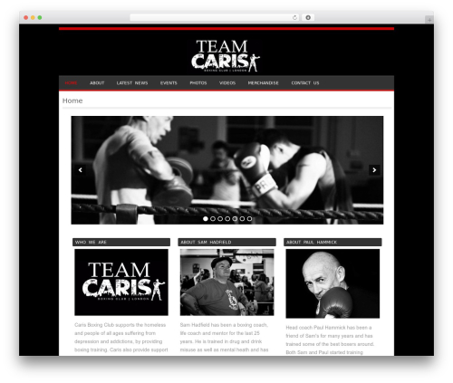 Sporty free website theme - carisboxing.com