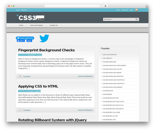 Convergence WordPress theme design - css3.com