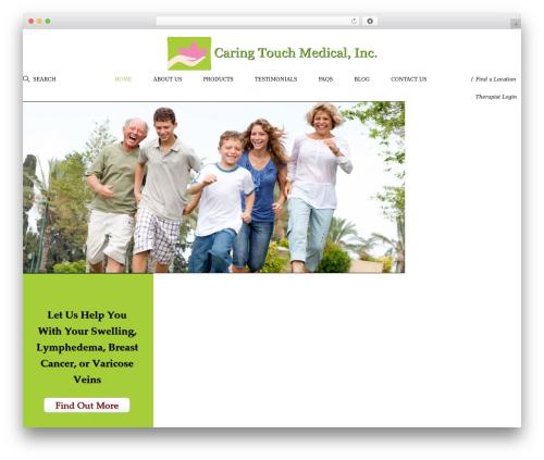 Genesis Sample medical WordPress theme - caringtouchmed.com