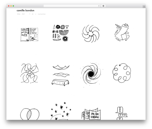 Grid Theme Responsive WordPress theme - camillebondon.com