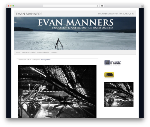 picolight WordPress page template - evanmanners.com