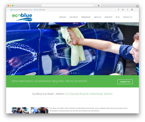 Theme WordPress California - ecobluecarwash.com.au