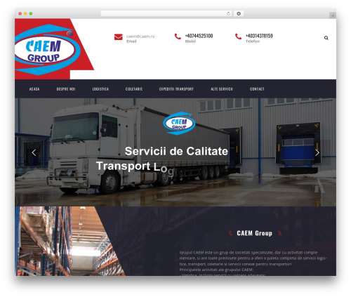 Theme WordPress Transport - caem.ro