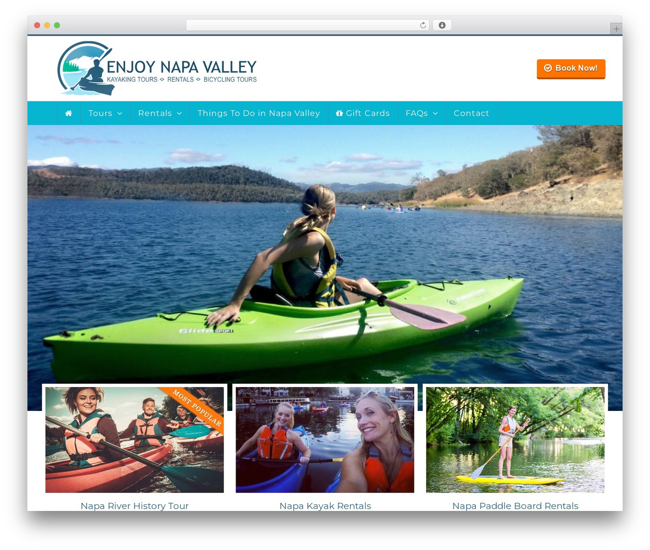 Total WordPress website template - enjoy-napa-valley.com