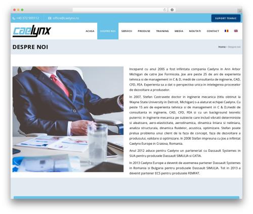 WordPress template Veda - caelynx.ro/despre-noi