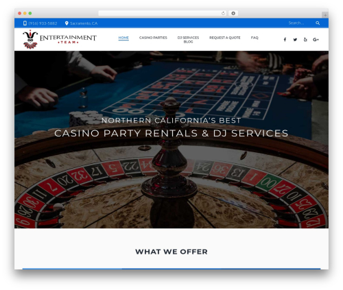 Zoomba WordPress wedding theme - entertainmentteam.com