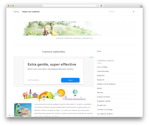 Activello WordPress theme - cuentosinfantiles.net
