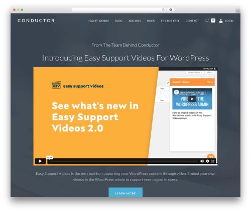 Baton Pro WordPress theme - conductorplugin.com