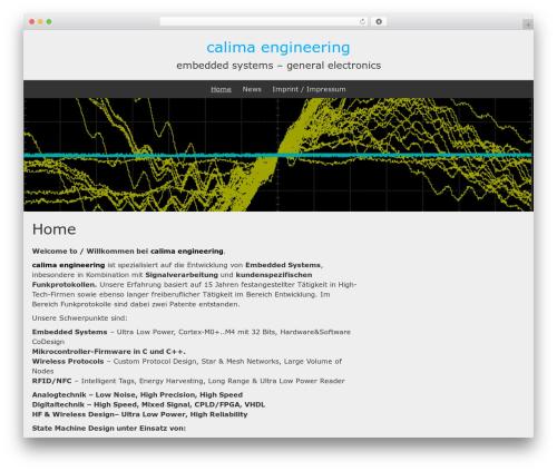 BlueGray WordPress theme free download - calima.de