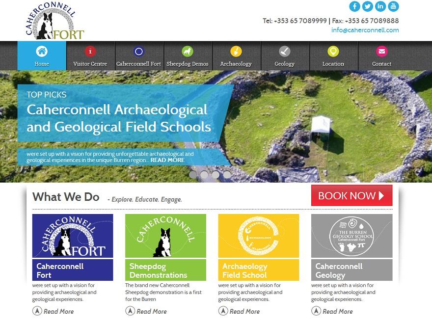 Caherconnell WordPress theme design