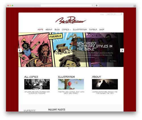 Chameleon WordPress theme - everettpatterson.com