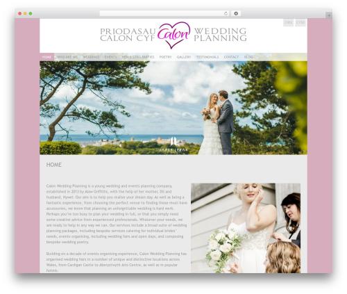 Coraline premium WordPress theme - calonweddingplanning.com