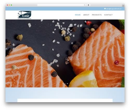 Divi food WordPress theme - cagiseafood.com