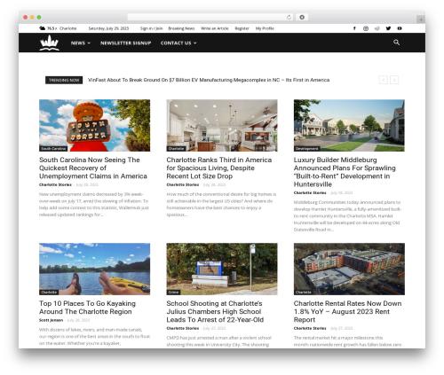 Newspaper WordPress news template - charlottestories.com