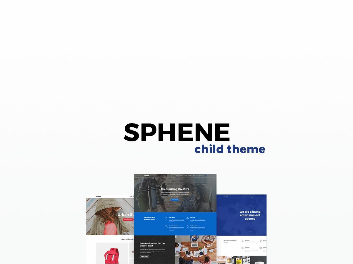 Theme WordPress Sphene Child