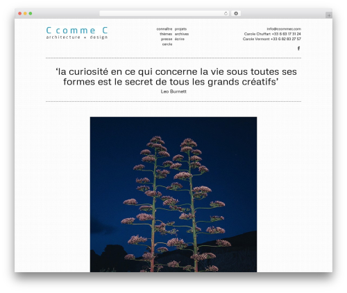 Vision best WordPress theme - ccommec.com