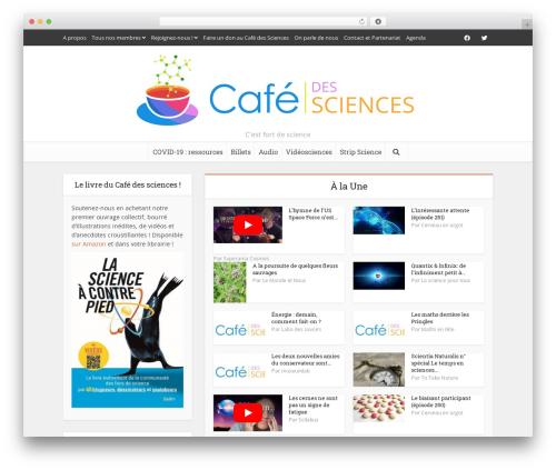 Voice WordPress theme - cafe-sciences.org