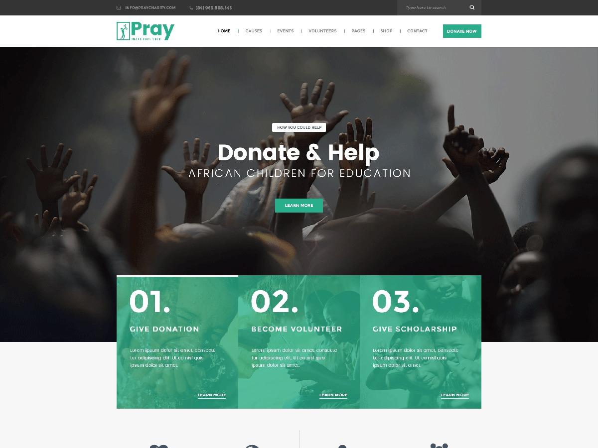 WordPress template Wp Pray