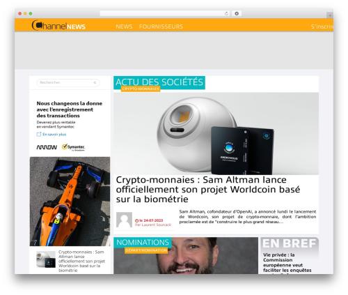 Best WordPress template Informatique - channelnews.fr