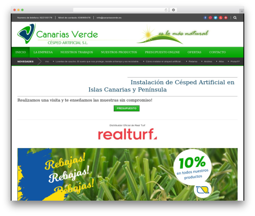 Best WordPress template World Wide - canariasverde.es