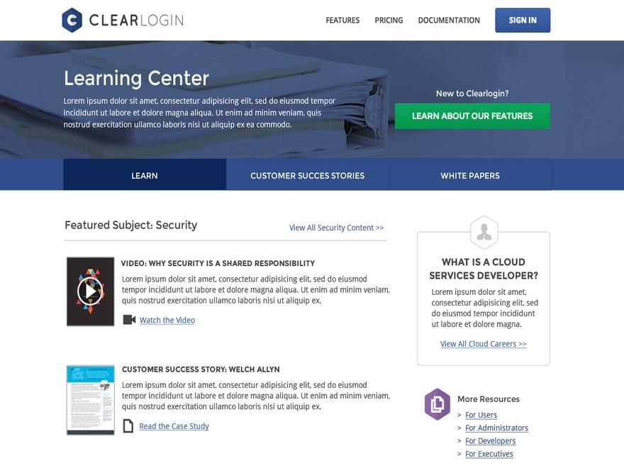 ClearLogin theme WordPress