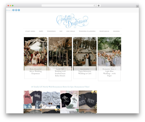 Divine Theme WordPress blog theme - confettidaydreams.com