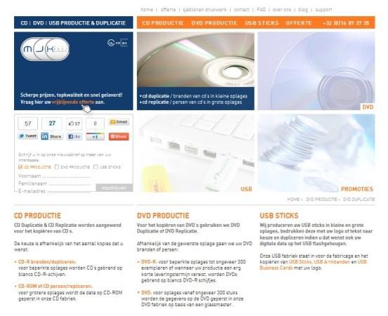 MJCDiskProductions WordPress theme design