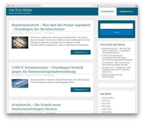 Allgemein Theme - Schema Lite Child best WordPress template - cactus-pedia.com