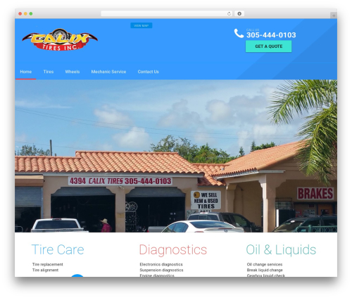 autorepair theme WordPress - calixtires.com