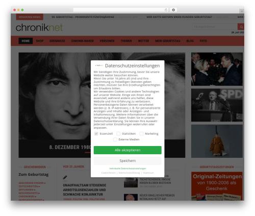 Best WordPress template Headline News - chroniknet.de