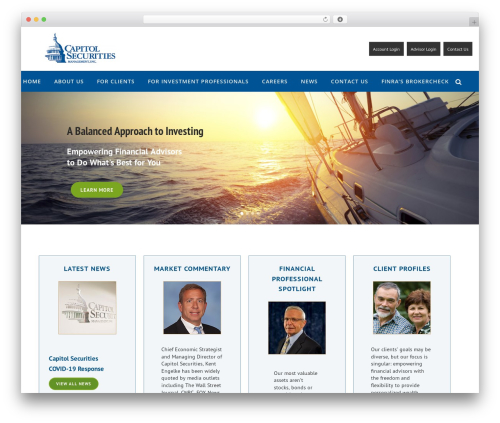 Bridge WordPress website template - capitolsecurities.com