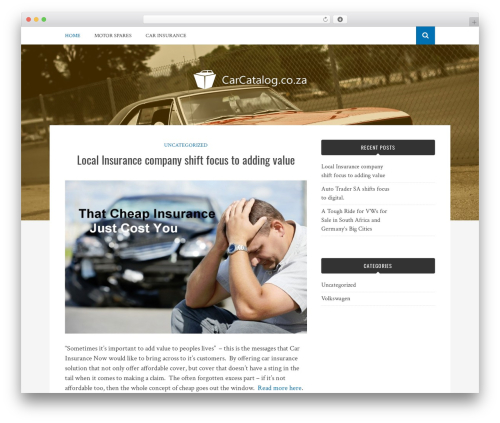 Bulan best free WordPress theme - carcatalog.co.za