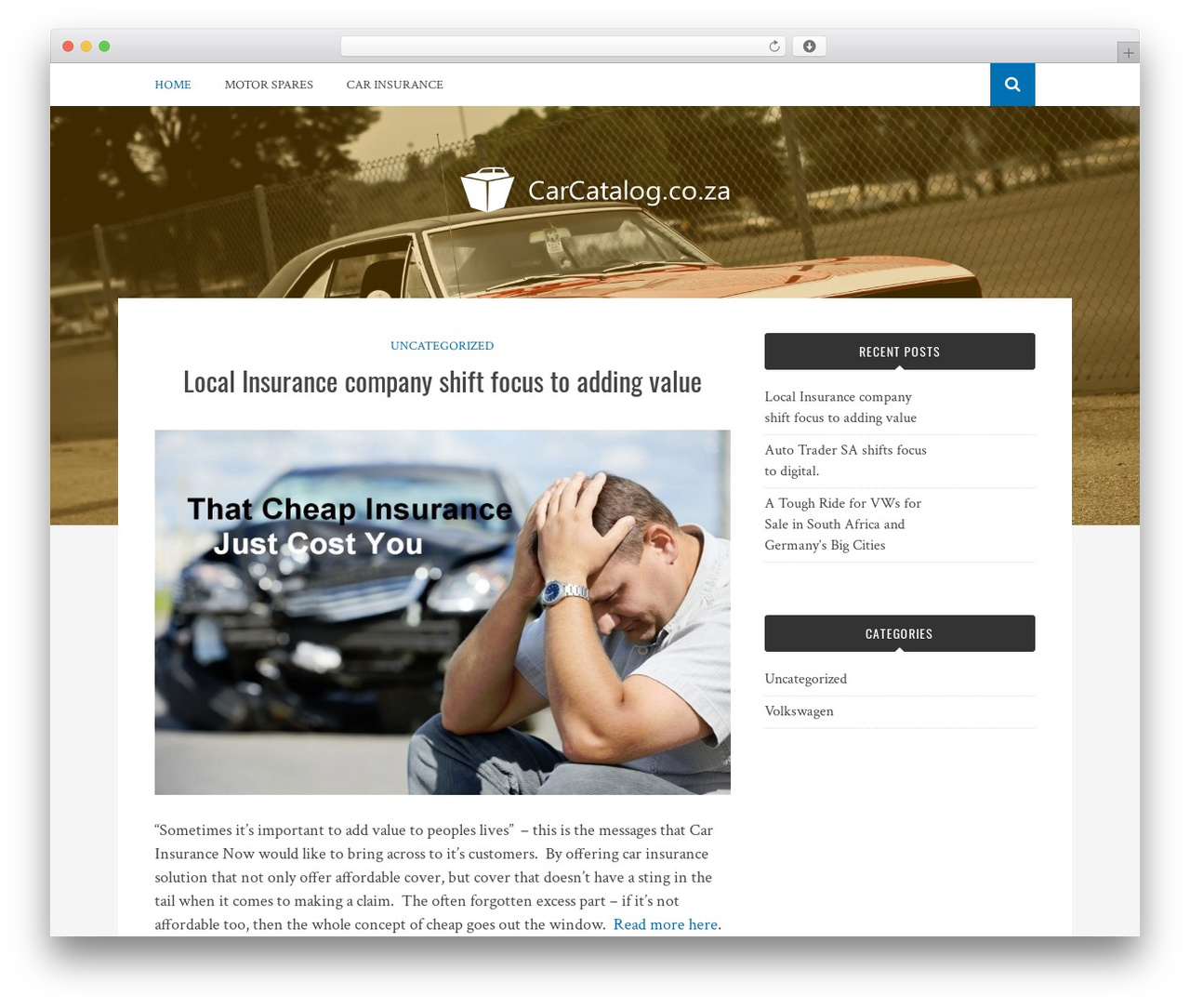 Bulan best free WordPress theme - carcatalog.co.za