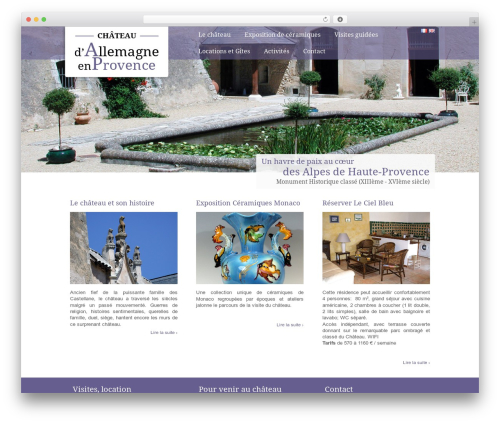 Chateau WP theme - chateaudallemagneprovence.com