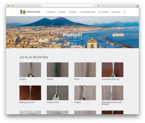 Divi WordPress theme - collection.daniaux.fr