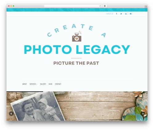 Euxino WordPress template - createaphotolegacy.com