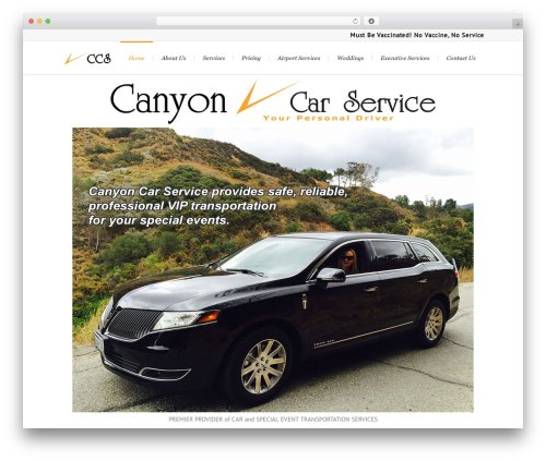 Lounge WordPress theme - canyoncarservice.com